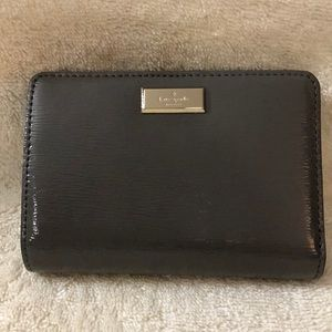 Kate Spade small gray bifold wallet